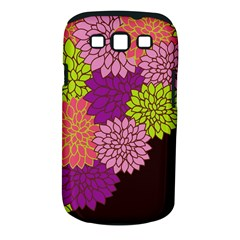 Floral Card Template Bright Colorful Dahlia Flowers Pattern Background Samsung Galaxy S Iii Classic Hardshell Case (pc+silicone)