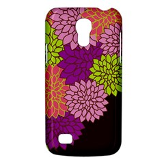 Floral Card Template Bright Colorful Dahlia Flowers Pattern Background Galaxy S4 Mini