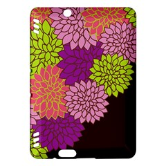 Floral Card Template Bright Colorful Dahlia Flowers Pattern Background Kindle Fire Hdx Hardshell Case by Nexatart