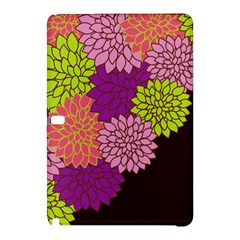 Floral Card Template Bright Colorful Dahlia Flowers Pattern Background Samsung Galaxy Tab Pro 12 2 Hardshell Case
