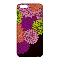 Floral Card Template Bright Colorful Dahlia Flowers Pattern Background Apple Iphone 6 Plus/6s Plus Hardshell Case