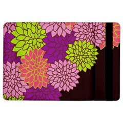 Floral Card Template Bright Colorful Dahlia Flowers Pattern Background Ipad Air 2 Flip by Nexatart