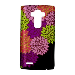 Floral Card Template Bright Colorful Dahlia Flowers Pattern Background Lg G4 Hardshell Case by Nexatart