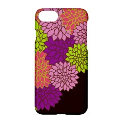 Floral Card Template Bright Colorful Dahlia Flowers Pattern Background Apple Iphone 7 Hardshell Case by Nexatart