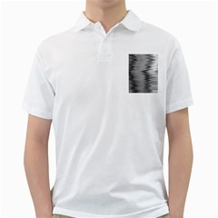 Rectangle Abstract Background Black And White In Rectangle Shape Golf Shirts