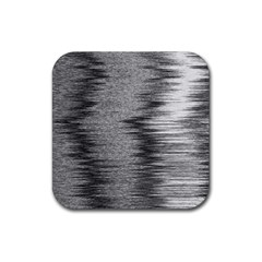 Rectangle Abstract Background Black And White In Rectangle Shape Rubber Coaster (square)  by Nexatart