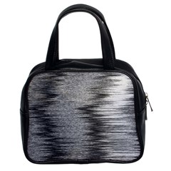 Rectangle Abstract Background Black And White In Rectangle Shape Classic Handbags (2 Sides)
