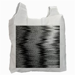 Rectangle Abstract Background Black And White In Rectangle Shape Recycle Bag (two Side)
