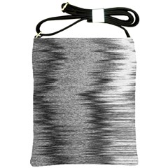 Rectangle Abstract Background Black And White In Rectangle Shape Shoulder Sling Bags