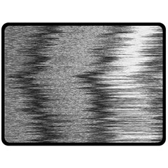 Rectangle Abstract Background Black And White In Rectangle Shape Fleece Blanket (large)