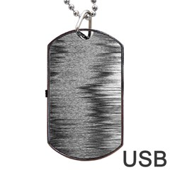 Rectangle Abstract Background Black And White In Rectangle Shape Dog Tag Usb Flash (one Side)