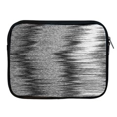 Rectangle Abstract Background Black And White In Rectangle Shape Apple Ipad 2/3/4 Zipper Cases by Nexatart