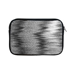 Rectangle Abstract Background Black And White In Rectangle Shape Apple Ipad Mini Zipper Cases
