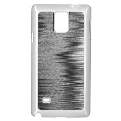 Rectangle Abstract Background Black And White In Rectangle Shape Samsung Galaxy Note 4 Case (white)