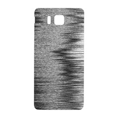 Rectangle Abstract Background Black And White In Rectangle Shape Samsung Galaxy Alpha Hardshell Back Case by Nexatart