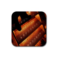 Magic Steps Stair With Light In The Dark Rubber Square Coaster (4 Pack)  by Nexatart