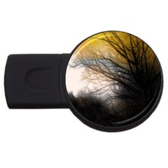 Tree Art Artistic Abstract Background USB Flash Drive Round (1 GB) by Nexatart