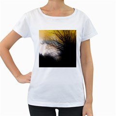 Tree Art Artistic Abstract Background Women s Loose Fit T Shirt (white)