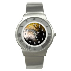 Tree Art Artistic Abstract Background Stainless Steel Watch by Nexatart