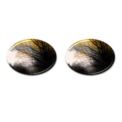 Tree Art Artistic Abstract Background Cufflinks (oval) by Nexatart
