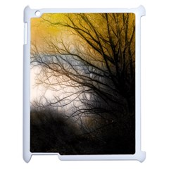 Tree Art Artistic Abstract Background Apple Ipad 2 Case (white)