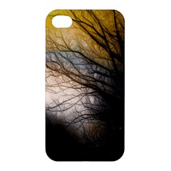 Tree Art Artistic Abstract Background Apple Iphone 4/4s Hardshell Case