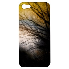 Tree Art Artistic Abstract Background Apple Iphone 5 Hardshell Case