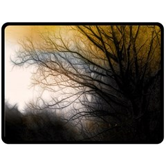 Tree Art Artistic Abstract Background Double Sided Fleece Blanket (large)  by Nexatart