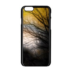 Tree Art Artistic Abstract Background Apple Iphone 6/6s Black Enamel Case by Nexatart