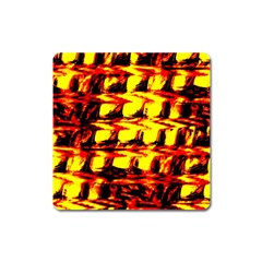 Yellow Seamless Abstract Brick Background Square Magnet