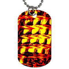 Yellow Seamless Abstract Brick Background Dog Tag (one Side) by Nexatart