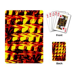 Yellow Seamless Abstract Brick Background Playing Card