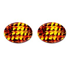 Yellow Seamless Abstract Brick Background Cufflinks (oval) by Nexatart