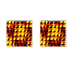 Yellow Seamless Abstract Brick Background Cufflinks (square) by Nexatart
