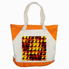 Yellow Seamless Abstract Brick Background Accent Tote Bag by Nexatart