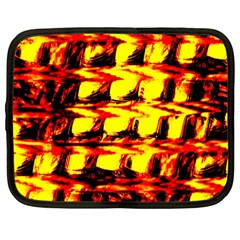 Yellow Seamless Abstract Brick Background Netbook Case (large)