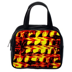 Yellow Seamless Abstract Brick Background Classic Handbags (one Side) by Nexatart
