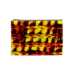 Yellow Seamless Abstract Brick Background Cosmetic Bag (medium)