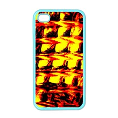 Yellow Seamless Abstract Brick Background Apple Iphone 4 Case (color) by Nexatart