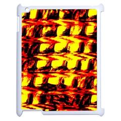 Yellow Seamless Abstract Brick Background Apple Ipad 2 Case (white) by Nexatart