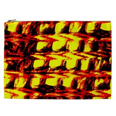 Yellow Seamless Abstract Brick Background Cosmetic Bag (xxl)  by Nexatart