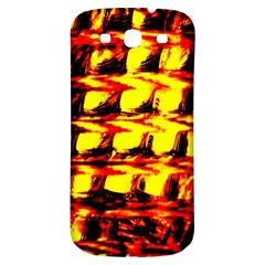 Yellow Seamless Abstract Brick Background Samsung Galaxy S3 S Iii Classic Hardshell Back Case by Nexatart