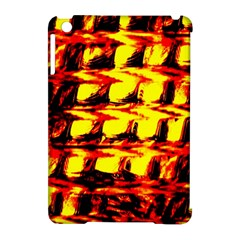 Yellow Seamless Abstract Brick Background Apple Ipad Mini Hardshell Case (compatible With Smart Cover) by Nexatart