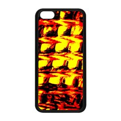 Yellow Seamless Abstract Brick Background Apple Iphone 5c Seamless Case (black) by Nexatart