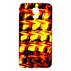 Yellow Seamless Abstract Brick Background Samsung Galaxy S5 Back Case (white) by Nexatart