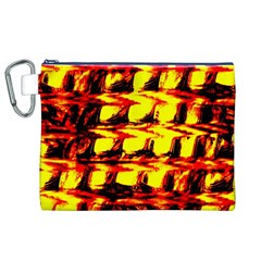 Yellow Seamless Abstract Brick Background Canvas Cosmetic Bag (xl) by Nexatart