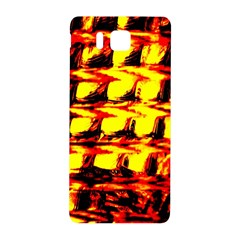 Yellow Seamless Abstract Brick Background Samsung Galaxy Alpha Hardshell Back Case by Nexatart