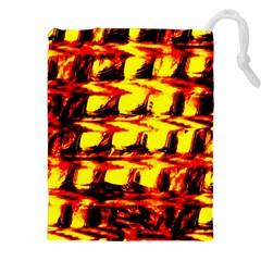 Yellow Seamless Abstract Brick Background Drawstring Pouches (xxl) by Nexatart