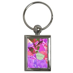 Abstract Design With Hummingbirds Key Chains (rectangle)  by Nexatart