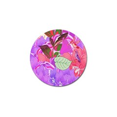 Abstract Design With Hummingbirds Golf Ball Marker by Nexatart